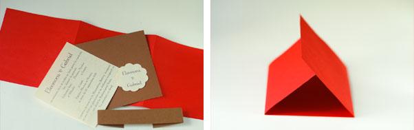 Invitatii nunta handmade cu buzunar hartie necesara
